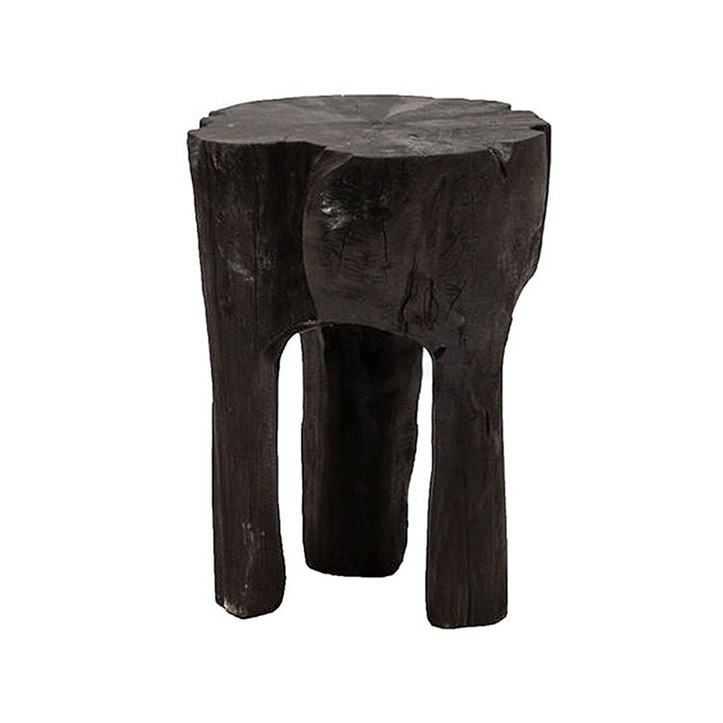 SOUK COLLECTIVE | Crusoe Tooth Teak Root Side Table Black
