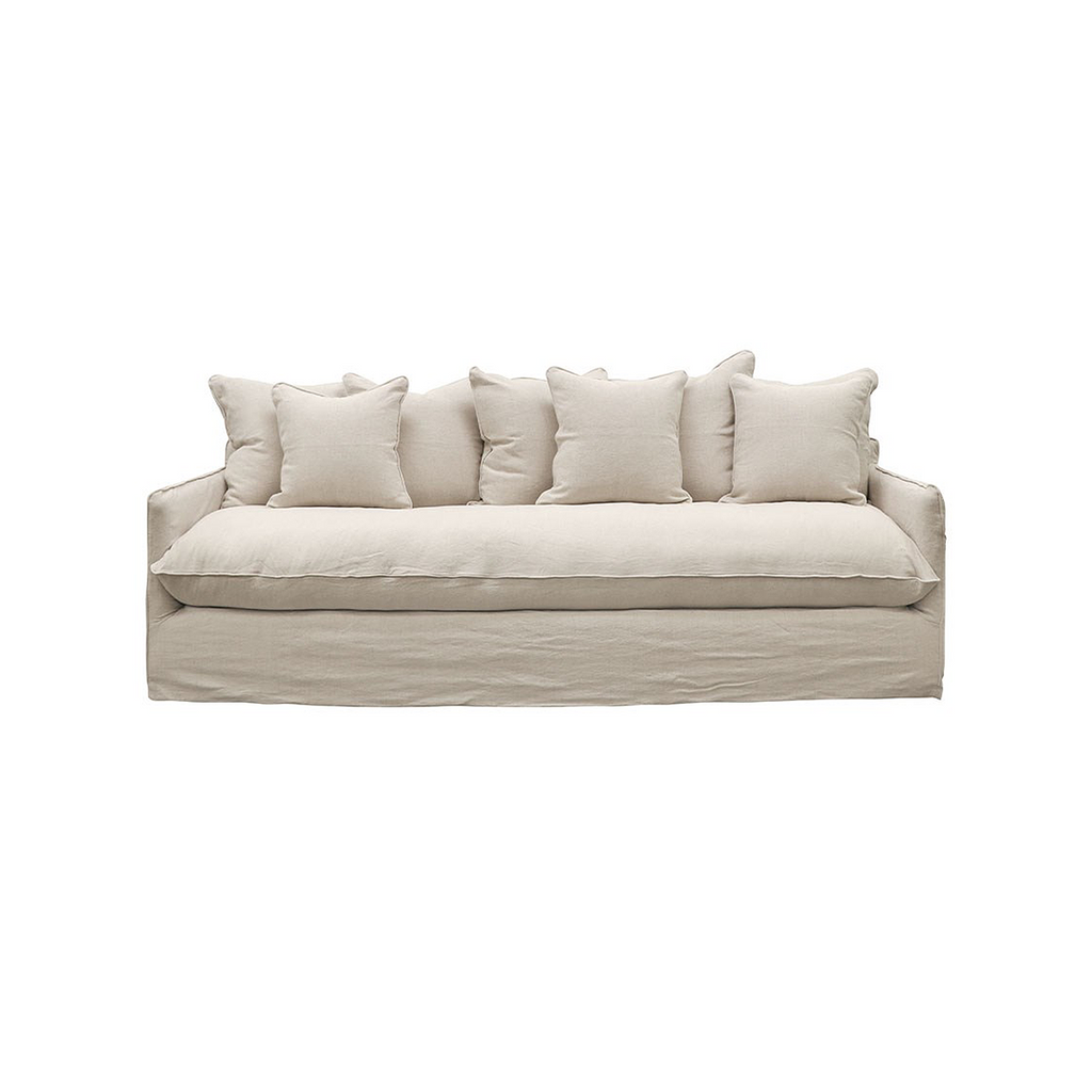 Lotus Slipcover Sofa Oatmeal