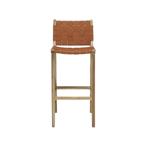 SOUK COLLECTIVE | Hayes Woven Leather Stool
