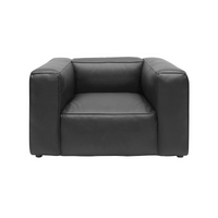 SOUK COLLECTIVE | Yale Leather Armchair Black