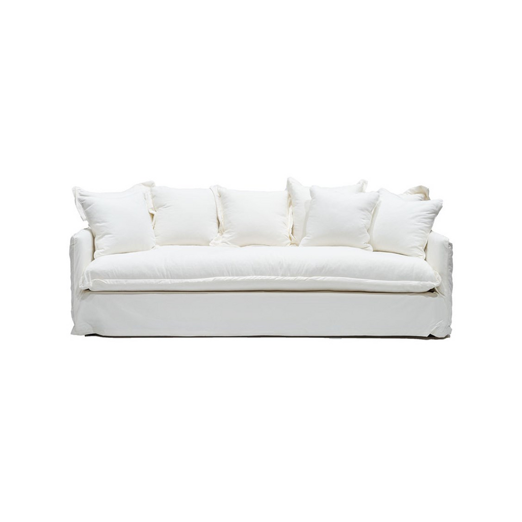 SOUK COLLECTIVE | Lotus Linen Slipcover Sofa White