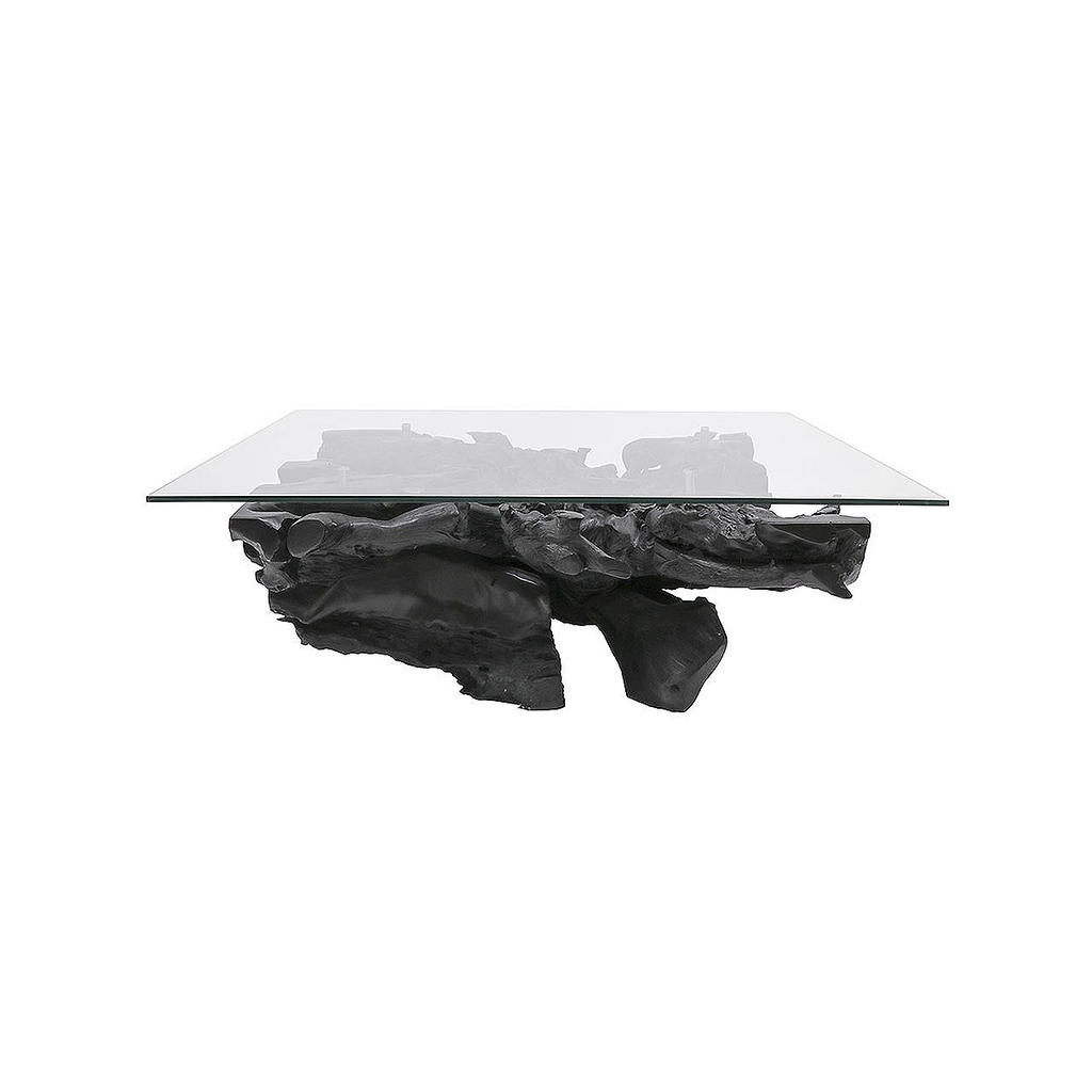SOUK COLLECTIVE | Crusoe Square Teak Root Coffee Table Black