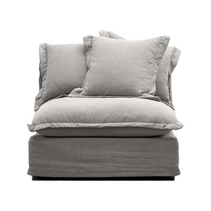 SOUK COLLECTIVE | Lotus Slipcover Chair Armless - Cement