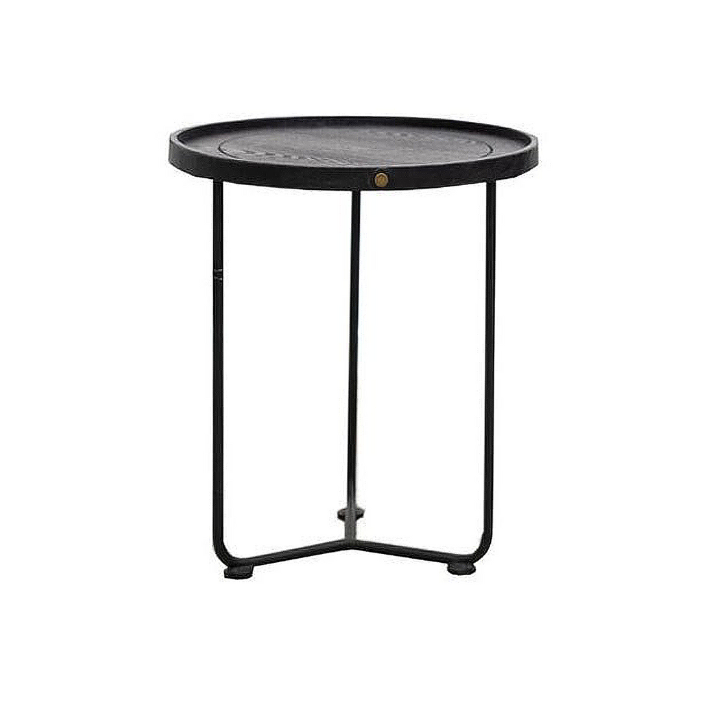 SOUK COLLECTIVE Haywood Side Table Black