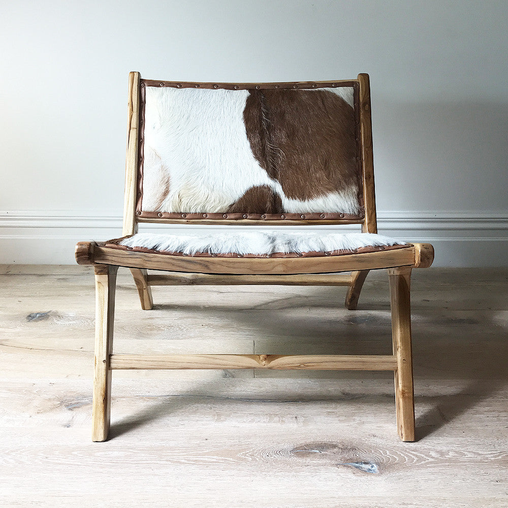 Marlboro Chair Natural + White/Brown