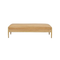 SOUK COLLECTIVE | Humphrey Leather Bench Seat