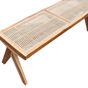 SOUK COLLECTIVE | Mara Rattan Bench Natural