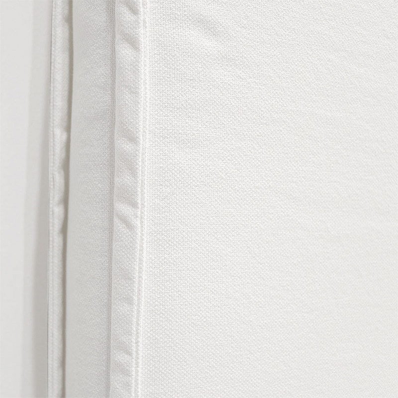Keely Linen Headboard Queen - White