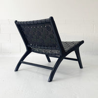 SOUK COLLECTIVE | Anya Leather Strap Chair Black