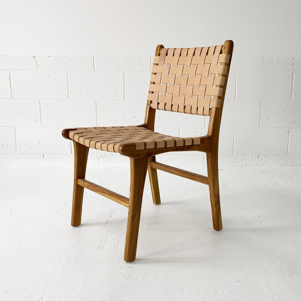 Katjia Leather Dining Chair - Natural/Natural
