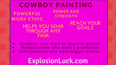 buy cowboy paiting as Christmas gift at www.explosionluck.com