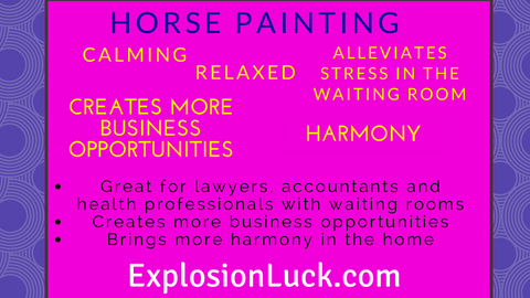 buy Feng Shui horse painting as Christmas gift at www.explosionluck.com