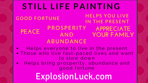 buy Feng Shui still life painting at www.explosionluck.com as Christmas gift