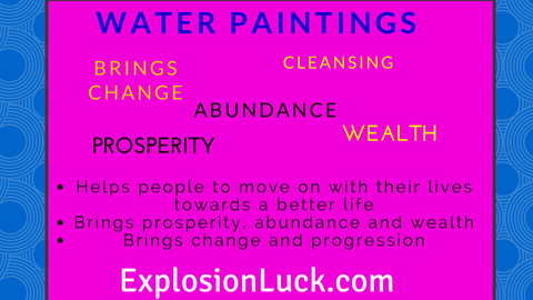 buy feng shui water painting as a holiday gift at wwwexplosionluckcom buy feng shui feng shui