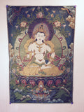 buy Tibetan thangka Vajrasattva as a good luck gift at www.explosionluck.com