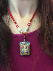 buy Tibetan thangka wearable art jewelry at www.explosionluck.com