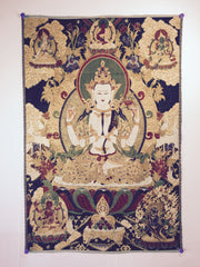 buy tibetan thangkas at www.explosionluck.com for better feng shui in the office and home
