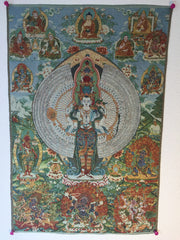 buy Tibetan tapestry for happiness at www.explosionluck.com