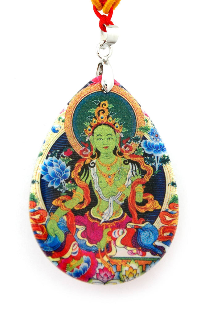 Buy wearable art pendant jewelry green tara explosion luck green tara pendant necklace mozeypictures Images