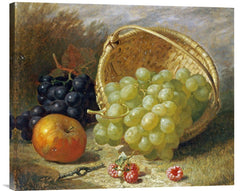 An Upturned Basket of Grapes