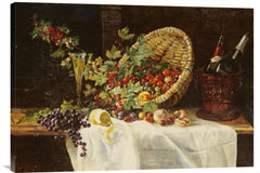 Cherries and Gooseberries In a Basket