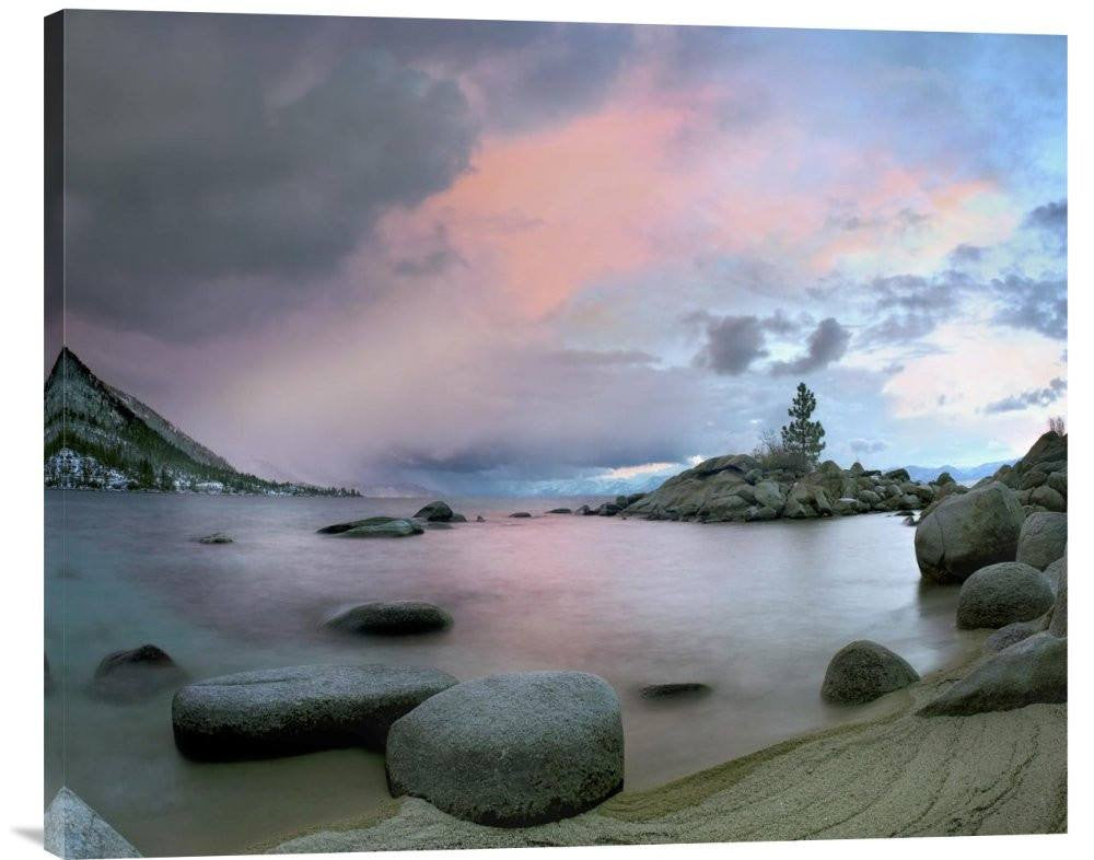 Hidden Beach at Sunset, Lake Tahoe, Nevada