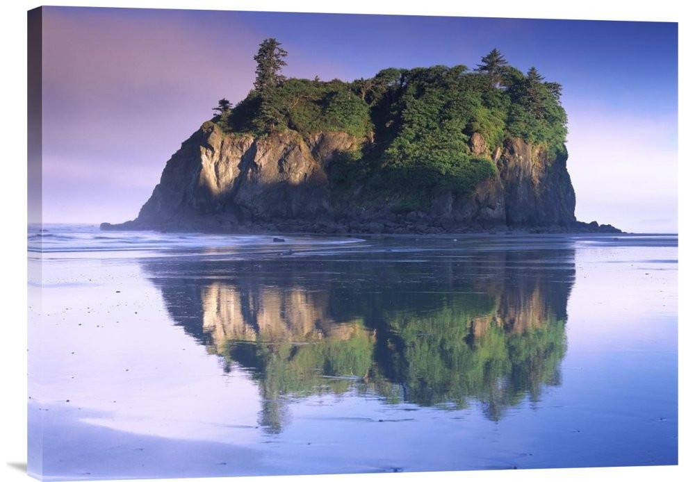 Abbey Island Looms over Ruby Beach