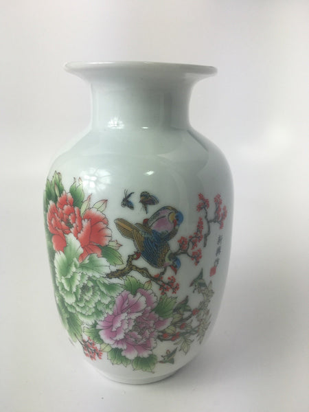 Buy Chinese Porcelain Flower Vase Birds And Butterflies With Peony Flowers Explosion Luck