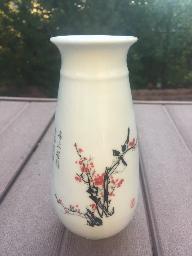 Cheerful Plum Blossoms With Magpies Chinese Porcelain Flower Vase
