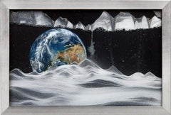 Moving Sand Art Picture Earth in Frame in Movie Series