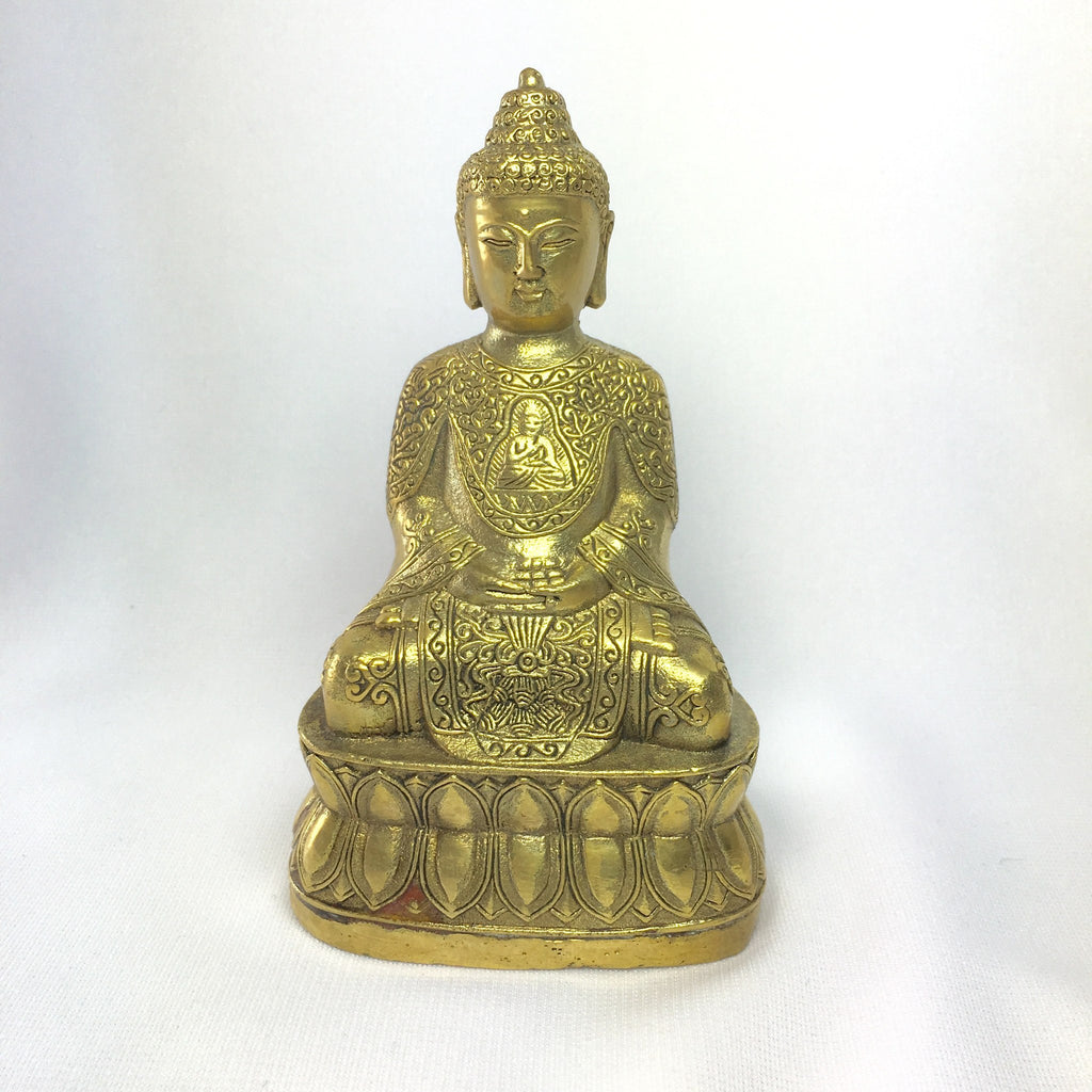 Antique Bronze Prosperity Buddha Statue
