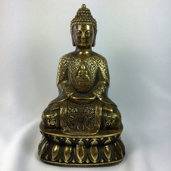 Buy Antique Handcrafted Buddha Lantern For Corporate: Buy Antique Bronze Statue Meditation Buddha For Feng Shui