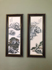 """Peaceful Snow"" Chinese Porcelain Wall Art Paintings"