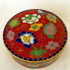 Red Enamel Feng Shui Jewelry Box