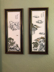 """The Beauty of Tranquility"" Chinese Ceramic Wall Art Paintings"