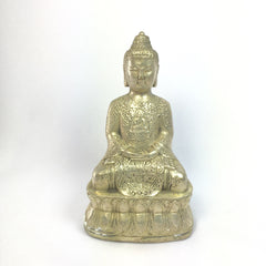 Antique Bronze Statue Calming Buddha