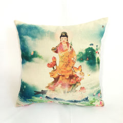 Quan Yin Feng Shui Decorative Pillow