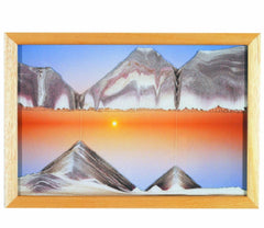 Moving Sand Art Picture Sunset in Frame in Movie Series