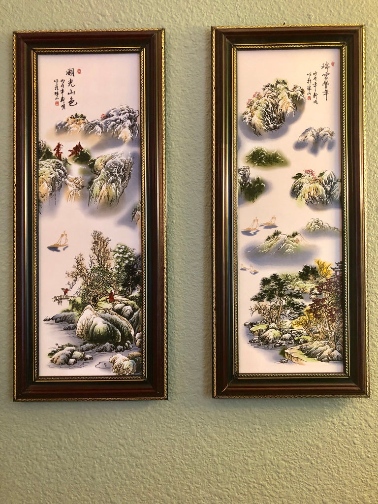 """Mountain Haven"" Porcelain Wall Art Paintings"