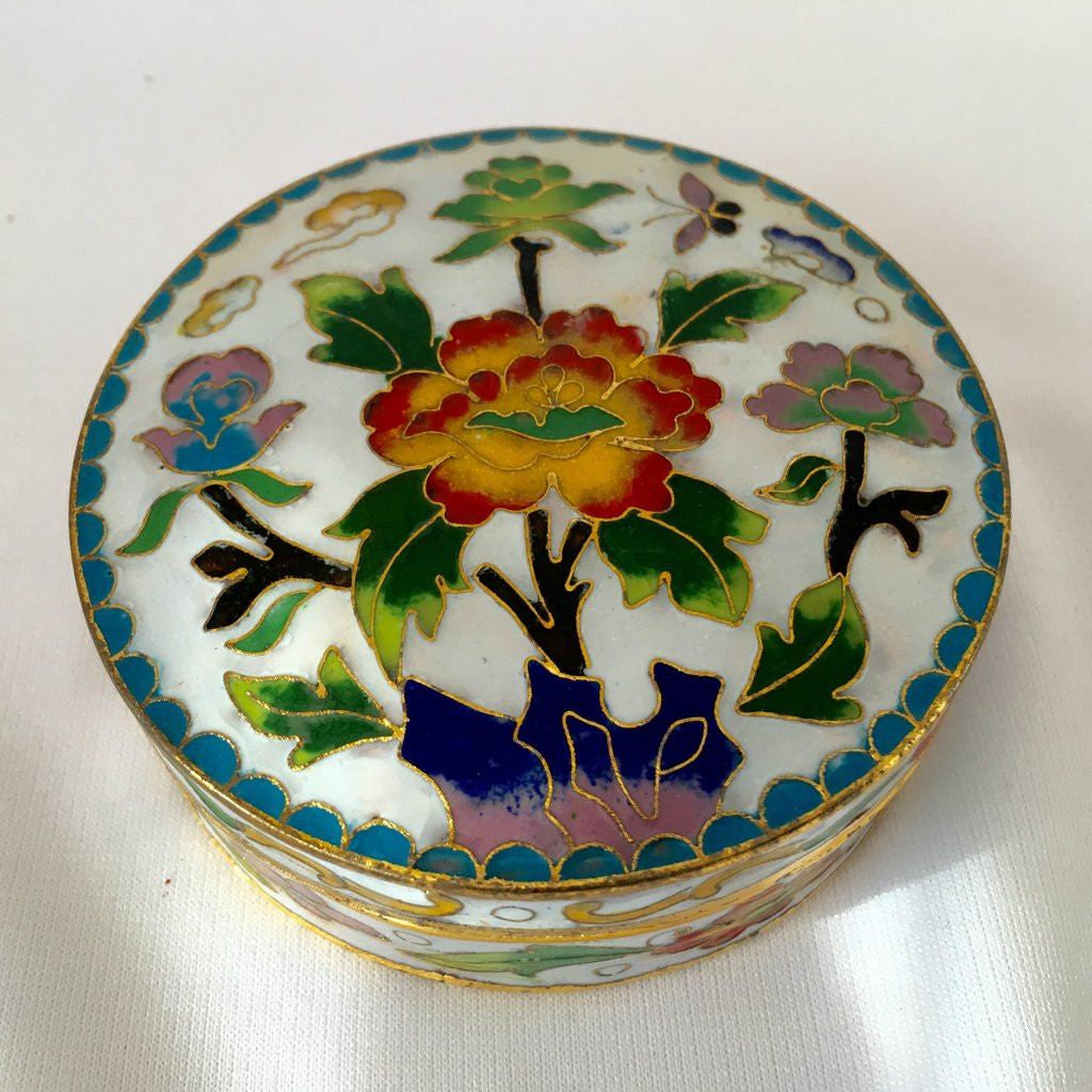 White Enamel Feng Shui Jewelry Box
