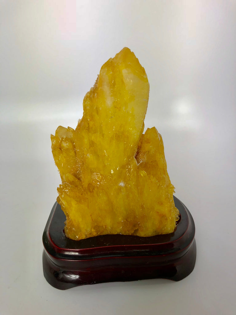 Natural Yellow Quartz Crystal 88