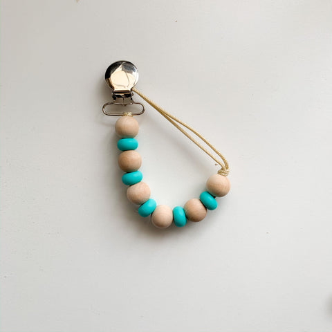 Amber Clip - Teal