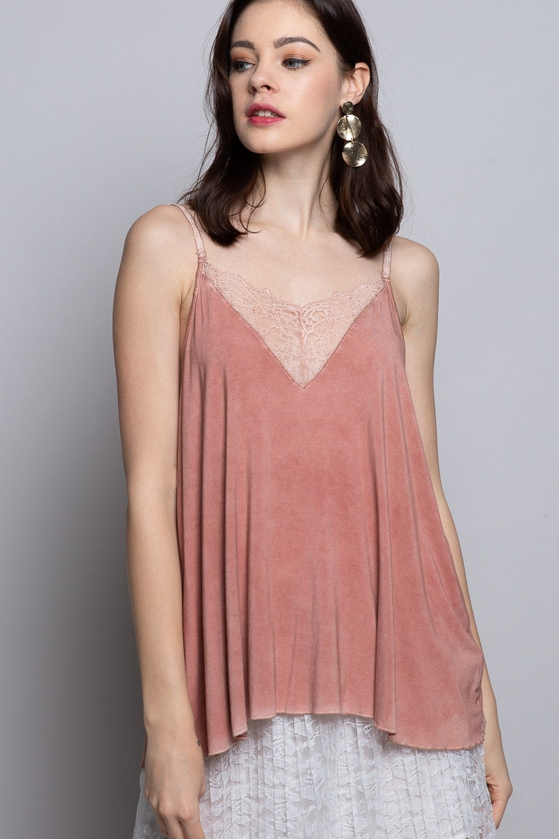 Camisole Tank w/Lace Detail