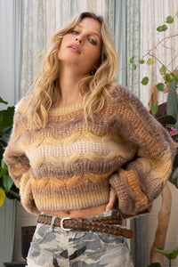 Crop Loose Fit Sweater