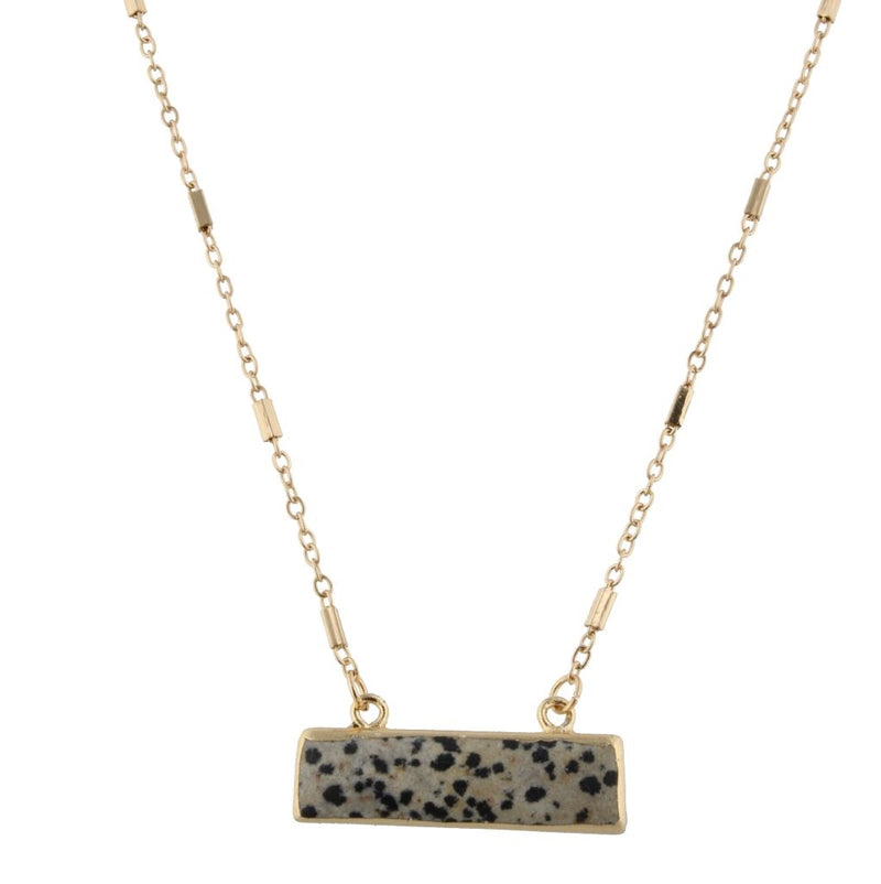 "16"" Chain Necklace w/Rectangle Bar"