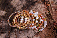 Honey Stack Bracelets with Topaz & Coordinating Beads