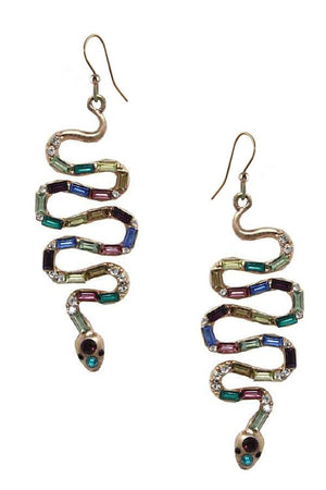 Snake Casting Pave Earring