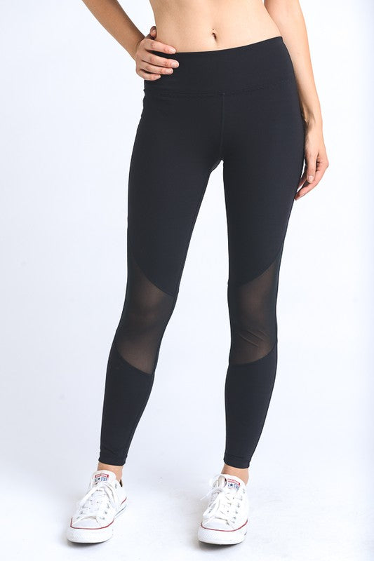 Wraparound Mesh Full Leggings