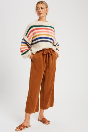 Rainbow Striped Cozy Sweater