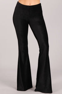 Corduroy Knit Fit and Flare Bell Bottom Pants